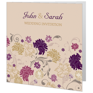 wedding-day-invite-dark-cream-purple-flower