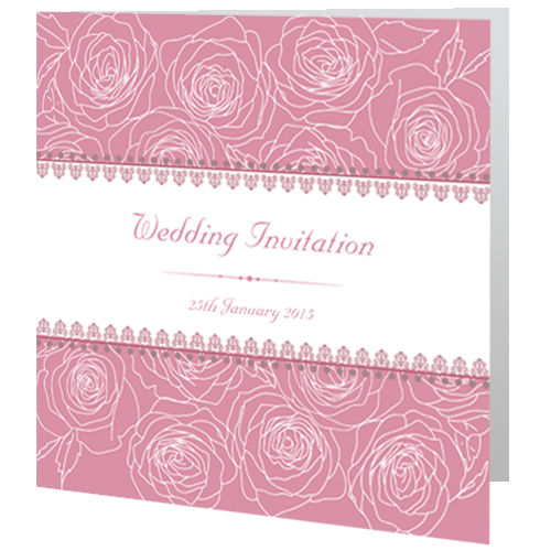 CF Dark Rose Wedding Invite Day 140 x 140 Folded