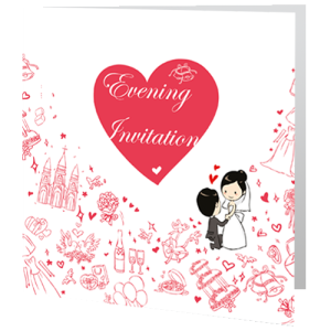 wedding-evening-invite-framed-heart