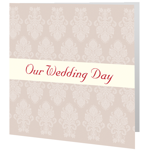 Red Regal Wedding Invite Day 140 x 140 Folded