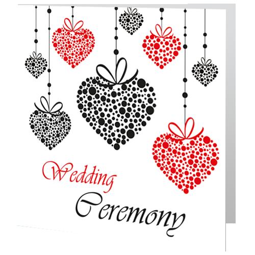 Romantic Red Heart   Civil Ceremony invite 140 x 140 Folded