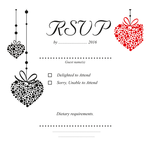 Romantic Red Heart  RSVP 124×124 Flat