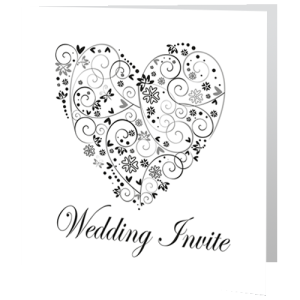 wedding-day-invite-black-and-white-heart