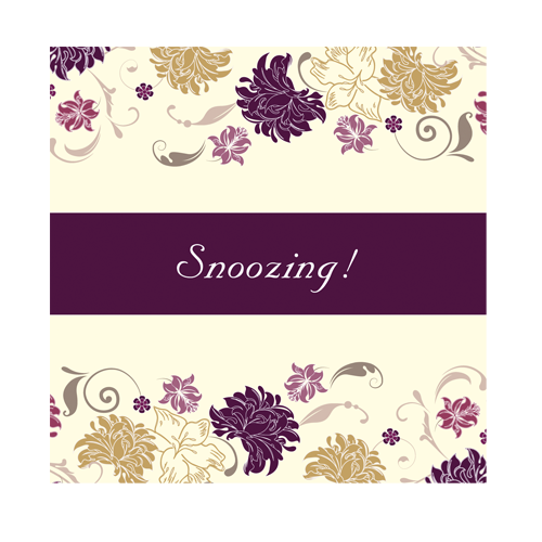 Cream Purple Flower Accommodation Card 100 x 100 Flat
