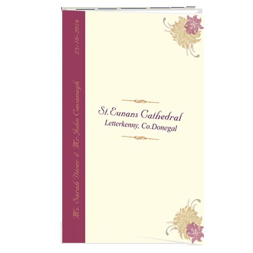 Cream Purple Flower Ceremony booklet 148.5 x 210 Folded