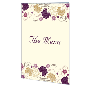 cream-purple-flower-menu-folded-card