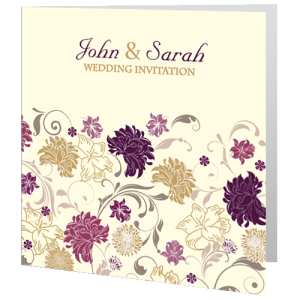 wedding-day-invite-cream-purple-flower-2