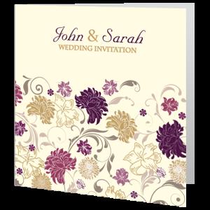 wedding-day-invite-cream-purple-flower-2