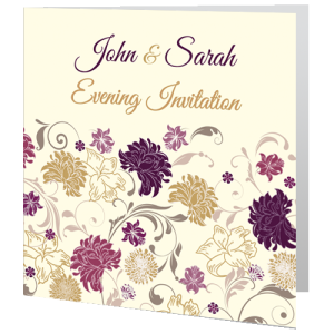 wedding-evening-invite-cream-purple-flower