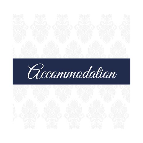 Dark Blue Regal Accommodation Card 100 x 100 Blue
