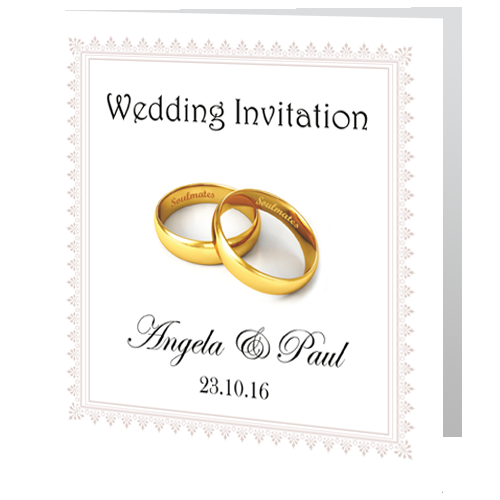 Wedding Day Invite Rings Wedding Cards Direct