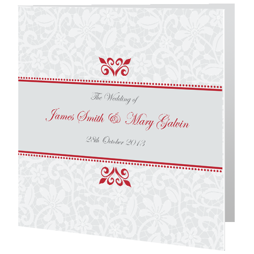 Classic Royal Winter Wedding Day Invite 140 x 140 Folded
