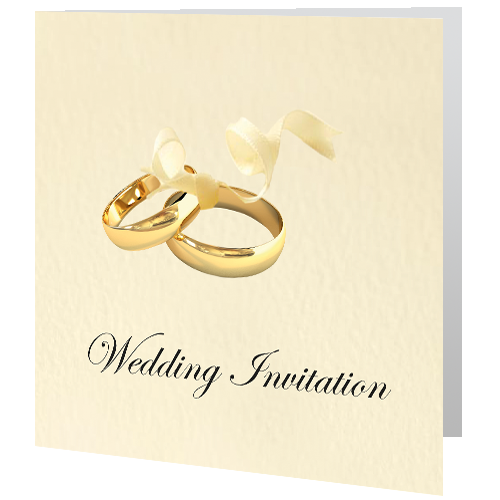 Wedding Day Invite Gold Wedding Rings Wedding Cards Direct