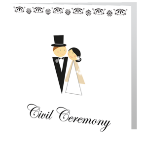 civil-ceremony-invite-monochrome-bride-groom