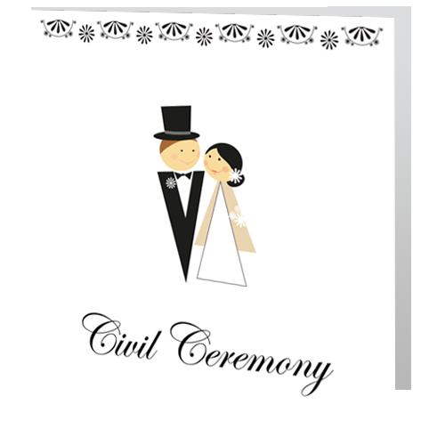 Monochrome Bride and Groom civil 3d