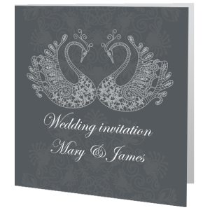 wedding-day-invite-swans-lace
