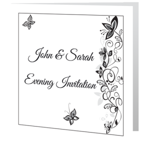 wedding-invite-evening-flower-black-white