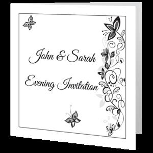wedding-invite-evening-flower-black-white