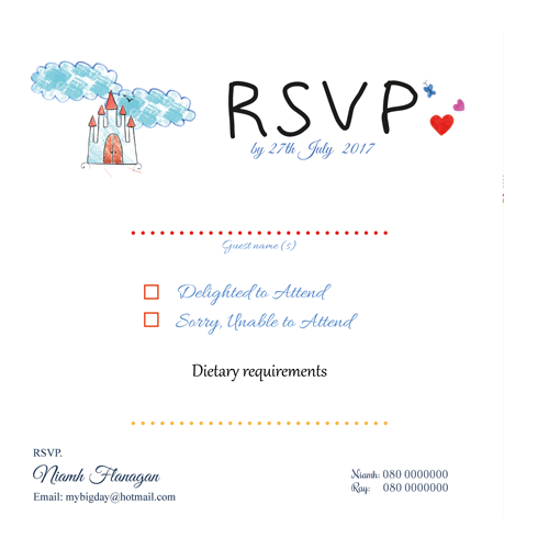 Kids Drawings With Text RSVP 3D