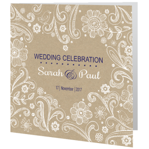 wedding-day-invite-rustic-brown-with-birds-and-swirls-design