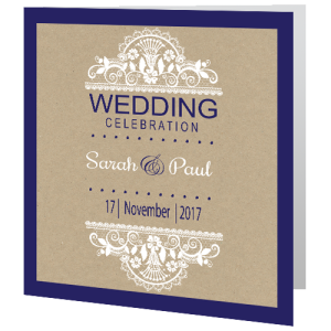 wedding-day-invite-rustic-lace-on-brown-paper-navy-edge