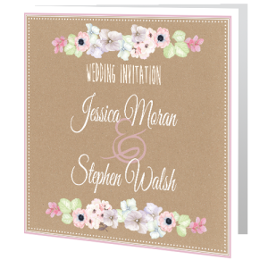wedding-day-invite-floral-watercolour-on-brown-background