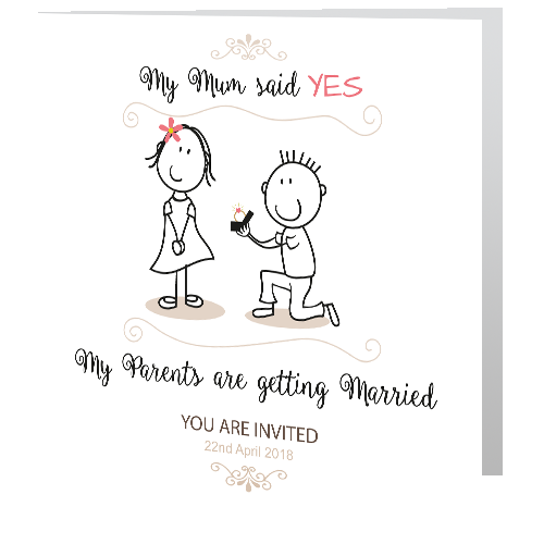 Wedding Day Invite Parents Are Getting Married Wedding