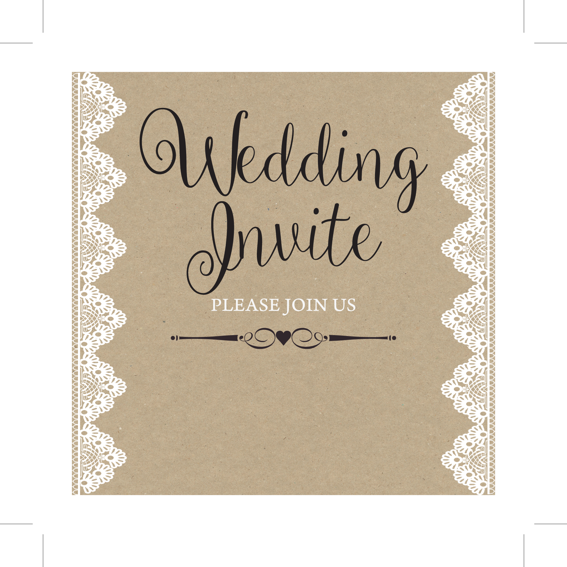 wedding day invite  rustic lace  wedding cards direct