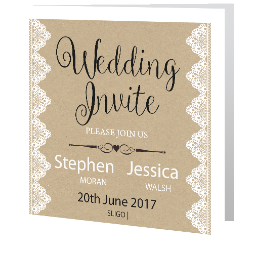 wedding-invite-rustic-lace-on-brown-background-3d