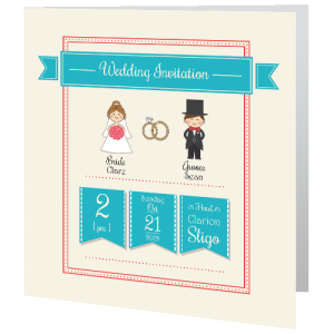 wedding-day-invite-cute-turquoise-140mm-x-140mm