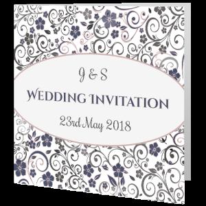 wedding-day-invite-ornate-mauve-grey-floral-140mm-x-140mm