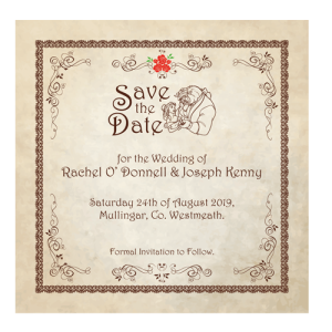 Beauty And The Beast Fairytale Save Date 124mm X