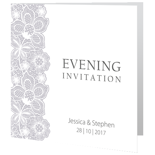 Lace-Floral-on-White-Evening-Invite-140mm-x-140mm