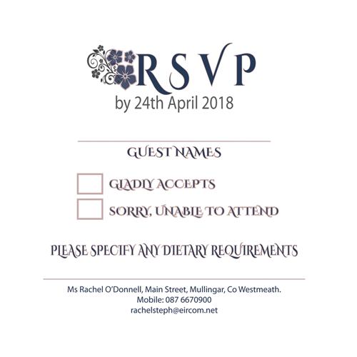 RSVP Ornate Mauve Grey Floral