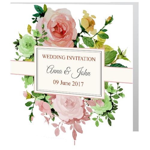 Rose Garden Wedding Day Invite 140 x 140 3d