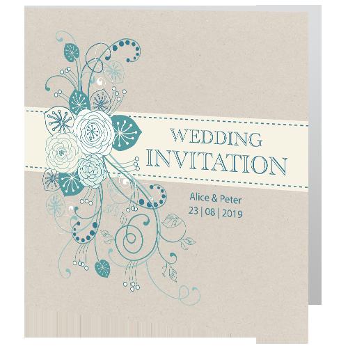 Wedding-Day-Invite—Teal-Flower-140mm-x-140mm