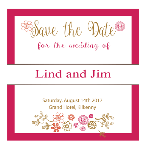 Regal Gold Floral Save the date 124×124 3D