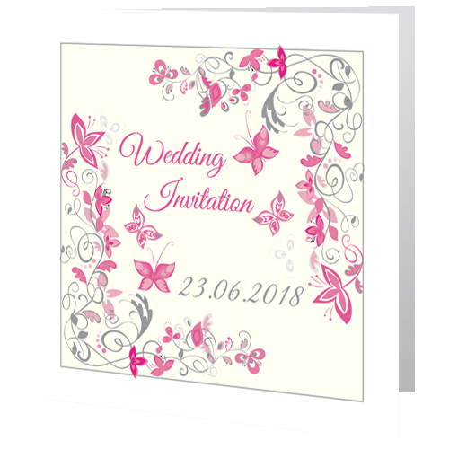 Wedding-Day-Invite—Flower-Different-Colours-Available-140mm-x-140mm