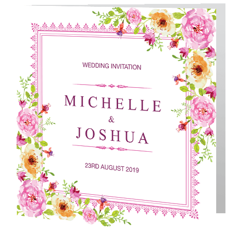 Wedding-Day-Invite—Regal-Pink-Rose-140mm-x-140mm