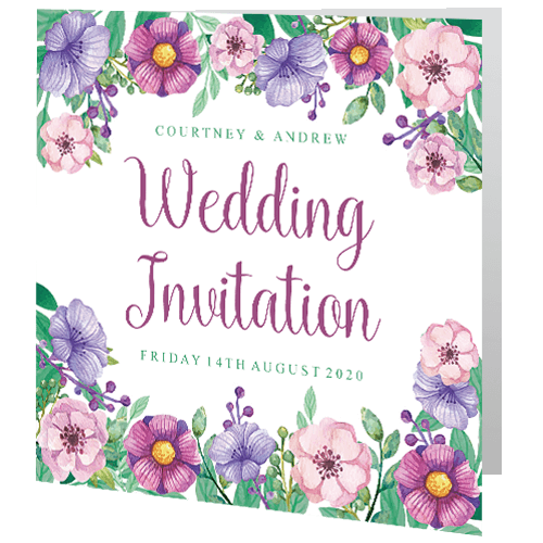 Wedding-Day-Invite—Soft-Pink-Lilac-Floral-140mm-x-140mm