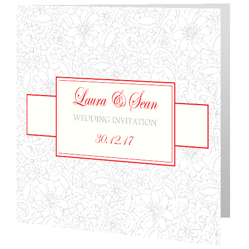 Wedding-Day-Invite—Winter-Wedding-Lace-Red-140mm-x-140mm