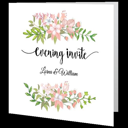 Wedding-Evening-Invite—Floral-Bouquet-140mm-x-140mm