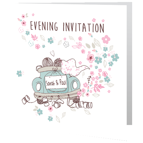 Wedding-Evening-Invite—Teal-Car-140mm-x-140mm