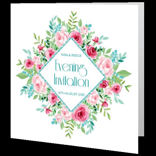 Wedding-Evening-Invite—Watercolour-Roses-140mm-x-140mm