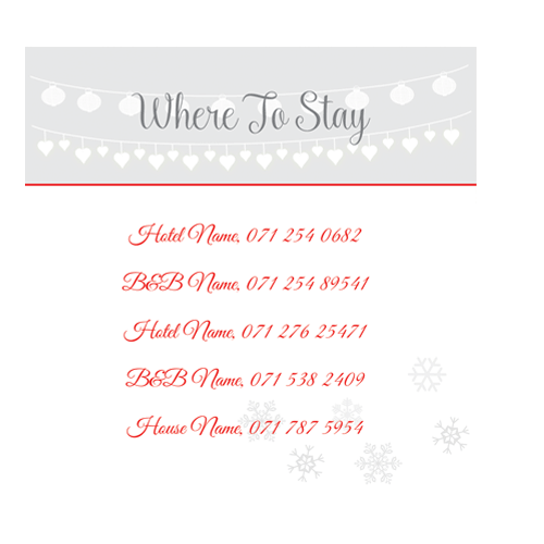 Winter-Wedding-Lace-Red-Accommodation-Card-100mm-x-100mm