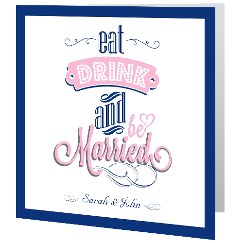 eat drink and be married blush pink 3d