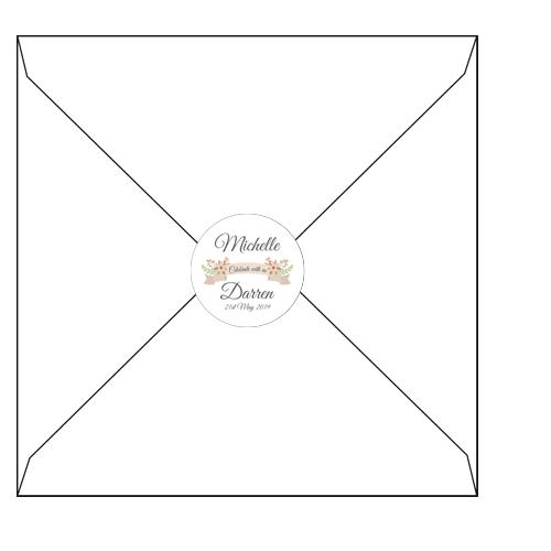 Floral 3D envelopes