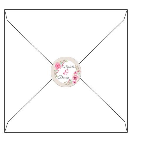 Pink Floral 3D envelopes