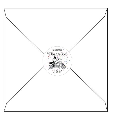 Confetti Circle label 3d