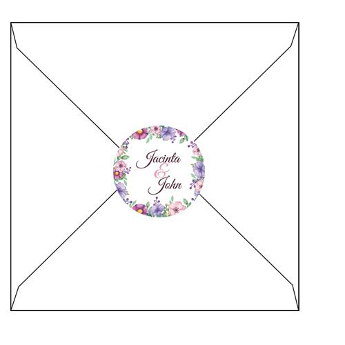soft pink liliac flower label 3d